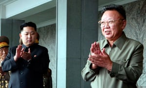 Kim Jong-un with Kim Jong-il