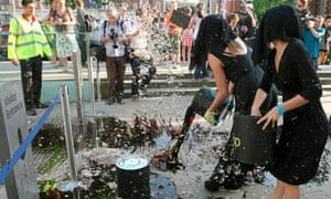 Environmental protesters at Tate