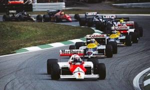 Driver Alain Prost leading at the Austrian Grand Prix
