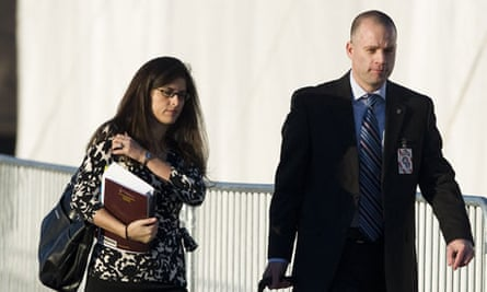 Bradley Manning's attorney David Coombs arrives at the court facility at Fort Meade