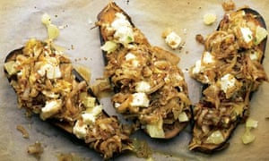 Yotam Ottolenghi's roasted aubergine with fried onion recipe