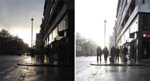 iPhone vs Canon: Rainy streets
