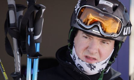 George Osborne and family on a skiing holiday in Davos, Switzerland - 02 Jan 2011