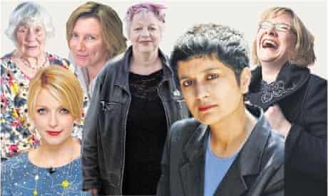 Shirley Williams, Sarah Montague, Jo Brand, Sarah Millican, Shami Chakrabarti and Lauren Laverne.