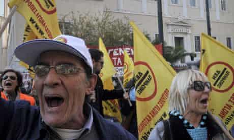 Greeks protest