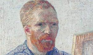 Van Gogh self-portrait (detail)