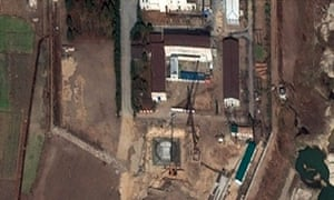 A satellite image of the Yongbyon nuclear complex in North Korea