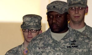 Bradley Manning, left