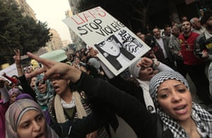 women protest in cairo: Hundreds of Egyptian women march