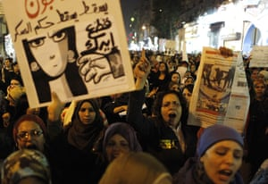 women protest in cairo: women protest in cairo
