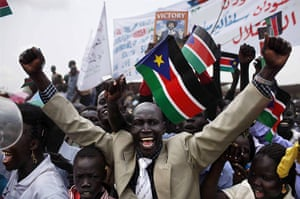 Year in MDG: Independence Day Celebration, South Sudan, Africa - 09 Jul 2011
