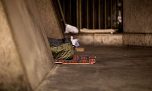 Rough sleepers in the City of London.