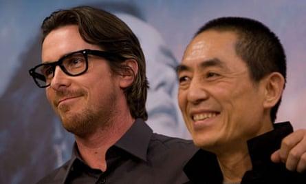 Christian Bale with Zhang Yimou