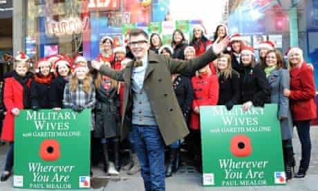 Gareth Malone and The Military Wives at HMV Oxford Street, London, Britain - 20 Dec 2011