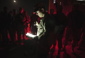FTA: Lucas Jackson: Captain Askew gives soldiers mission brief before leaving Camp Adder