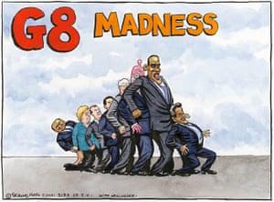 Steve Bell: G8 Madness