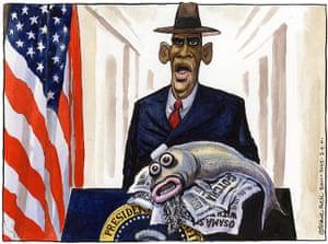 Steve Bell: Barack Obama