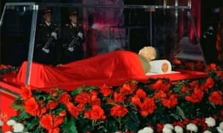 Kim Jong-il lies in state