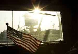 FTA: Lucas Jackson: A guard stands on the border of Kuwait