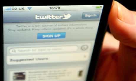 tweeting on phone