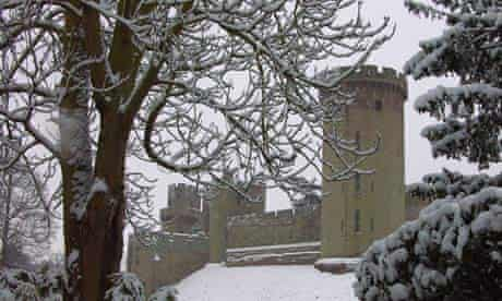 castle in snow