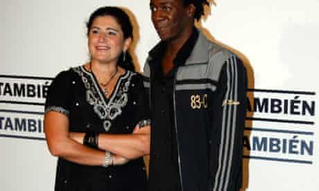 Lucia Etxeberria and the actor Jimmy Castro