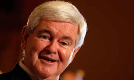 Newt Gingrich speaks after getting endorsements at the Iowa state capitol in Des Moines