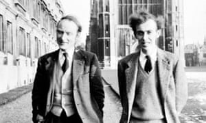 Francis Crick and James Watson, co-discoverers of the DNA double helix