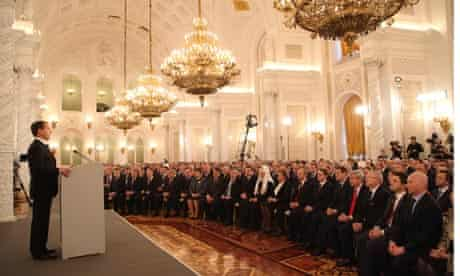 Russian President Medvedev Delivers Last State Of The Nation Address