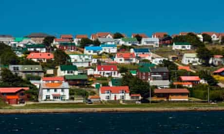 View of Stanley from the Harbour, Falkland Islands.. Image shot 02/2008. Exact date unknown.
