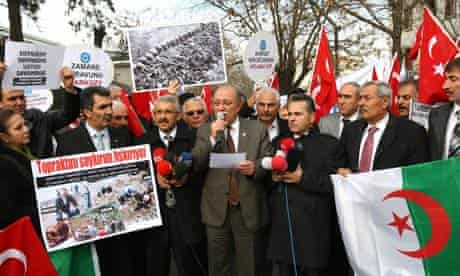 Protest against the French bill to make the denial of the Armenian genocide a crime