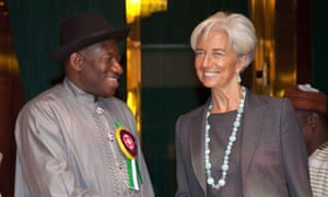 Christine Lagarde and Goodluck Jonathan