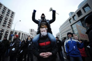 24 hours in pictures: Moscow protest