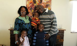 African middle class family in Lusaka