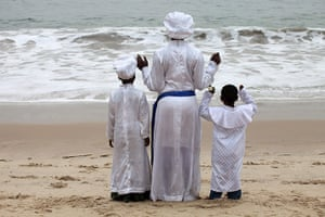 24 hours in pictures: A member of a Christian sect in Nigeria