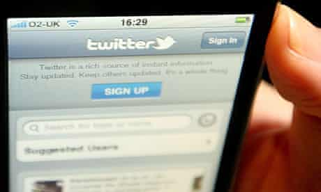 A Twitter signup page