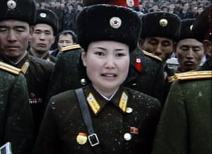 Kim Jong-il funeral: North Korean military personnel mourn during the funeral