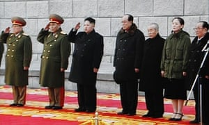 Kim Jong-il funeral: Kim Jong Un at the end of procession outside Kumsusan Memorial Palace