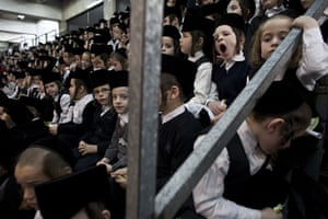 24 hours in pictures: Bnei Brak, Israel: Hanukkah celebrations
