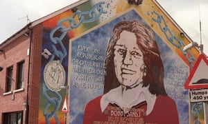 A mural of Bobby Sands