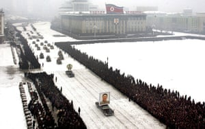 Kim Jong-il funeral: The funeral procession in Pyongyang