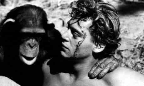 Johnny Weissmuller plays Tarzan in the 1932 film