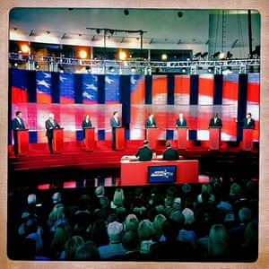 iPhone photos of the year: California, US: Eight republican candidates for US President