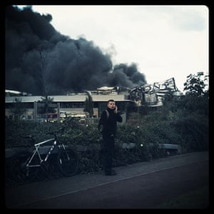 iPhone photos of the year: London, UK: Sony distribution centre on fire in Enfield, London riots