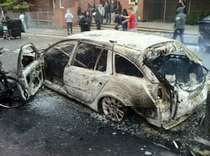 iPhone photos of the year: London, UK: A burnt out car in the aftermath of the Hackney Riots