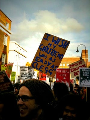 iPhone pictures: London, UK: Students protest against rises in tuition fees