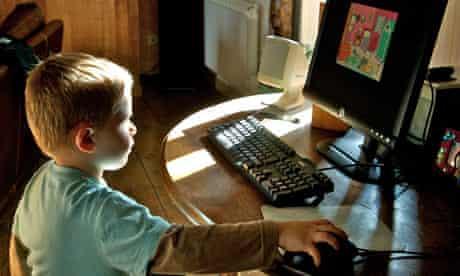Young boy using a computer TalkTalk