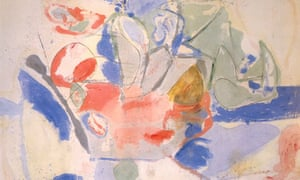Detail from Helen Frankenthaler's Mountains and Sea (1952)