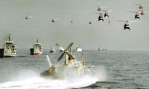 Iranian army and navy in Strait of Hormuz
