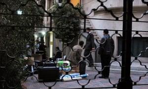 Egyptian police raid a non-governmental organization office in Cairo